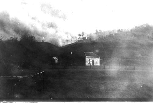 P2338 1939 Bushfire behind Jack Mulgrews house at Wye River-1