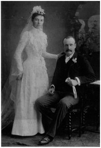Webster - Ada and Robert wedding day 27 June 1900