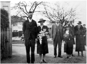 Webster - Stewart and Frances wedding day 14 Sept 1938