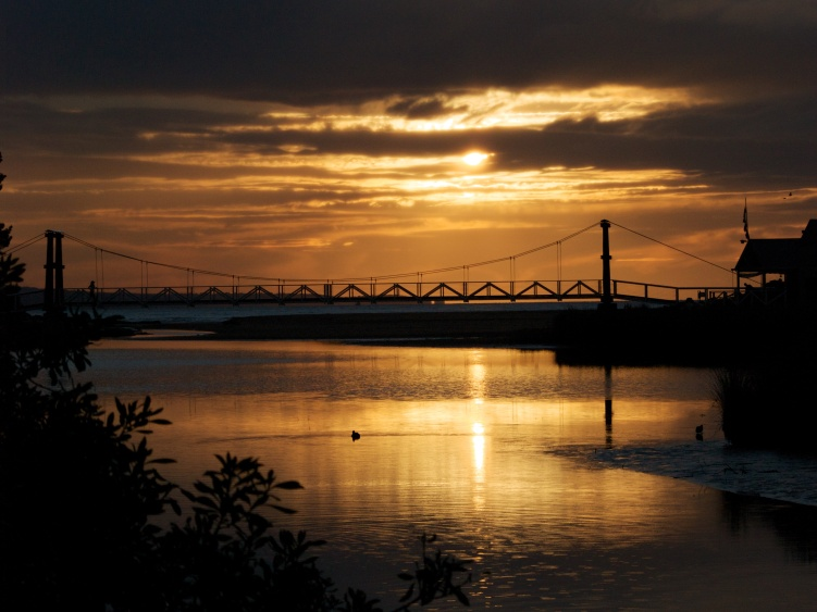 Old Swing Bridge, Erskine River, Victoria, Australia