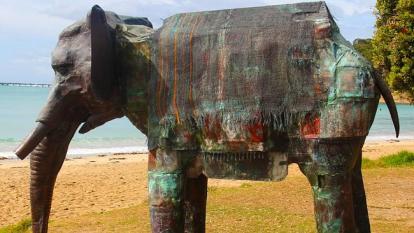 Geoffrey Ricardo's entry in the 2014 Lorne Sculpture Biennale.