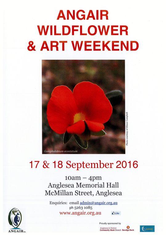 ANGAIR Wildflower Show brochure 2016
