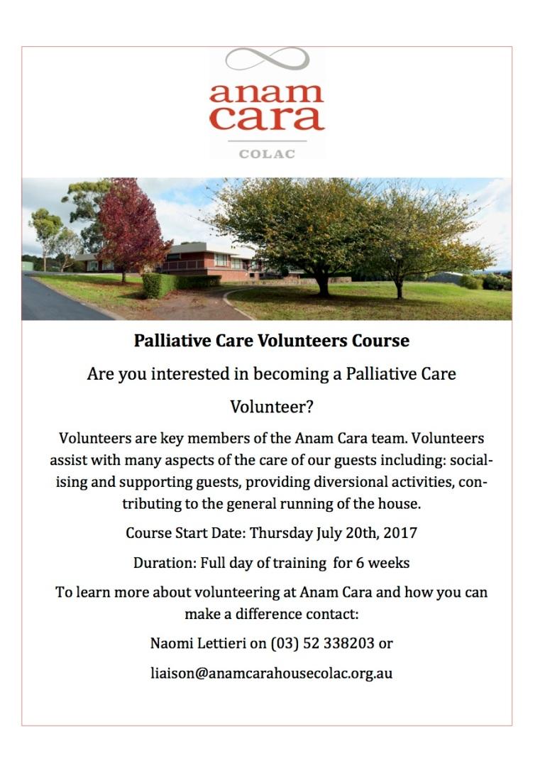 Volunteers Course Flyer