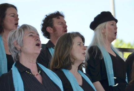 closeup of choristers