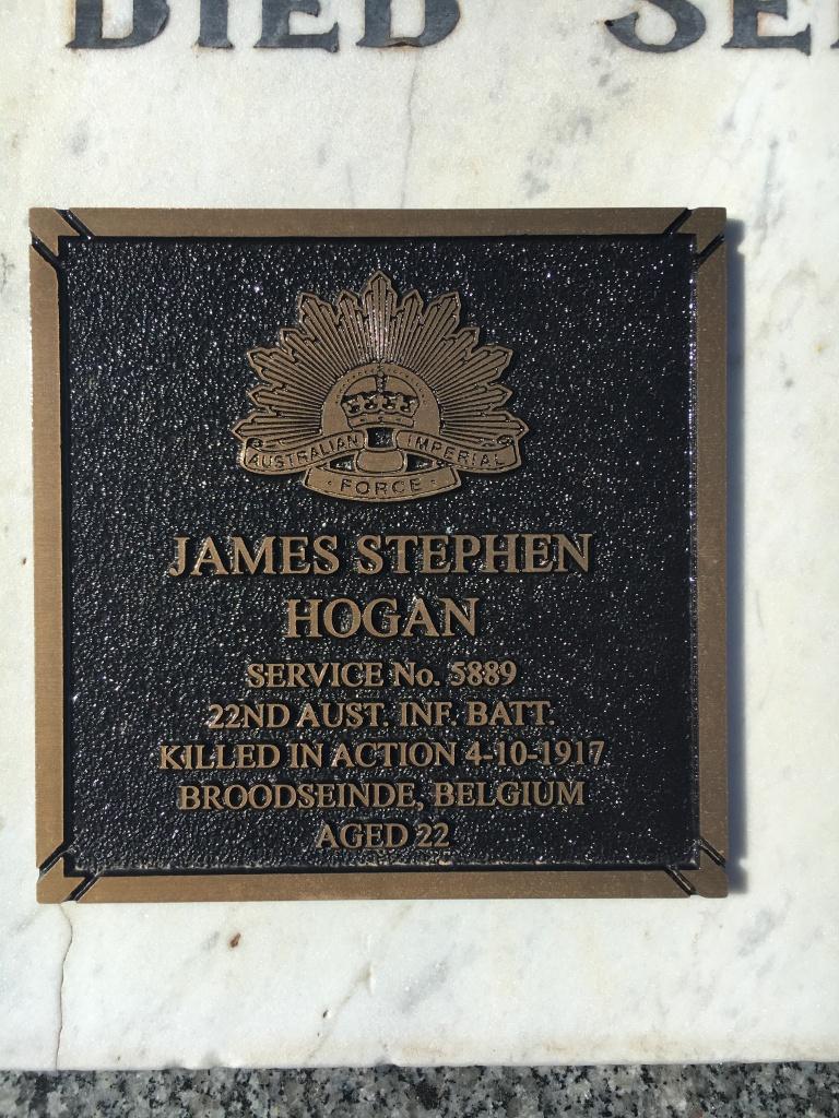 HOGAN James Stephen photo grave plaque Bendigo 4