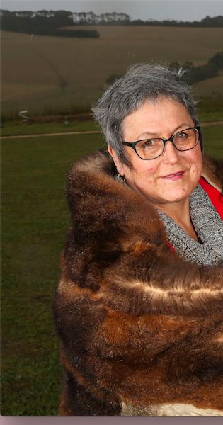 Aunty Bronwyn in Possum Cloak